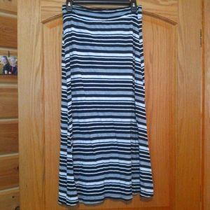 Striped Maxi Skirt Girls Size 16